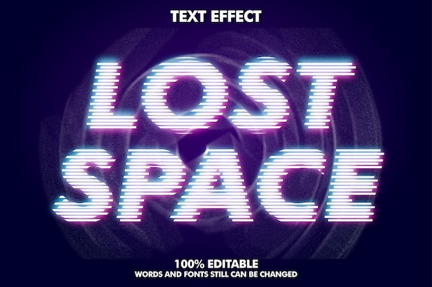 Lost space text, moderner texteffekt