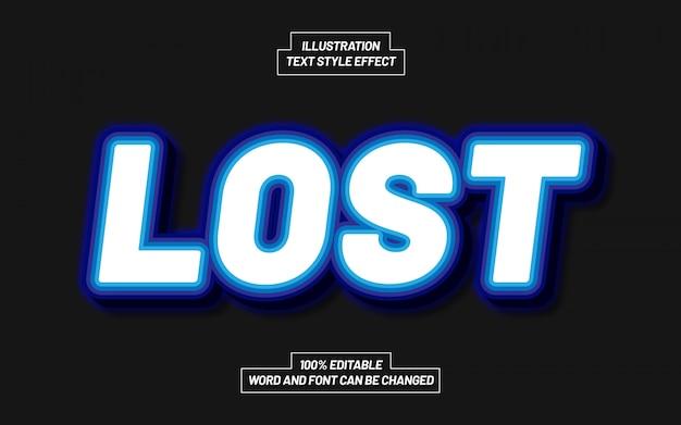 Lost text style-effekt
