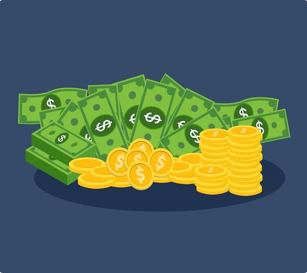 Lot dollar und goldmünzen