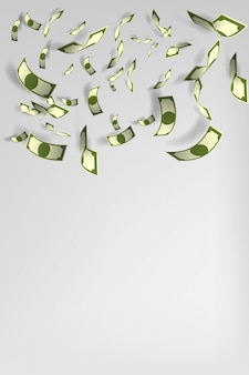Lot geldhintergrundvektorillustration