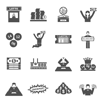 Lotterie icons set