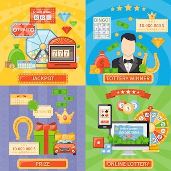 Lotterie und jackpot-konzept