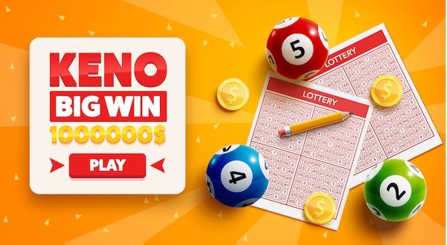 Lotteriehintergrund mit platz für text