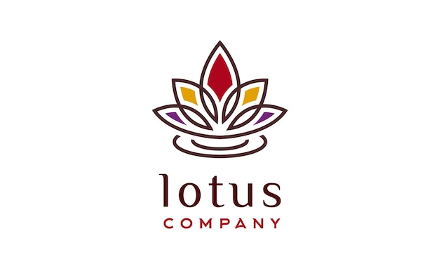 Lotus blume logo design