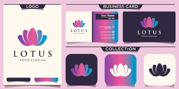 Lotus blumen design logo vorlage