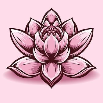 Lotus-blumenvektor und -logo