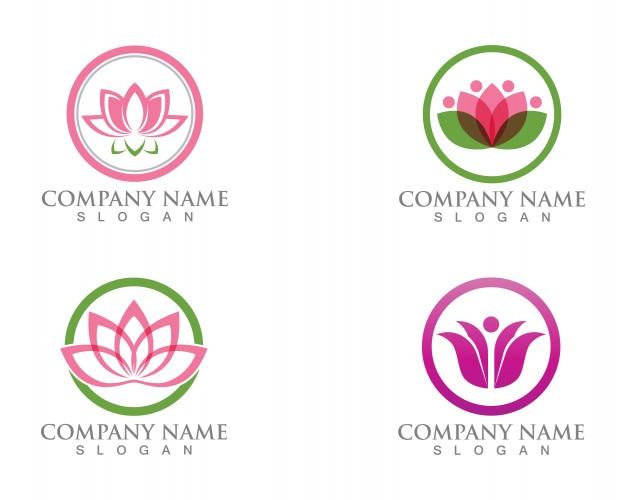 Lotus flower zeichen für wellness