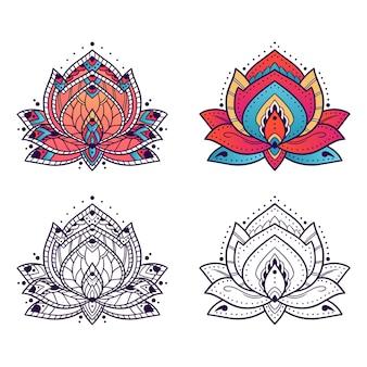 Lotus-mandala-kunstverzierung