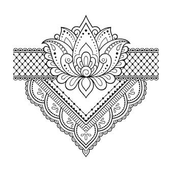 Lotus mehndi blume. dekoration im orientalischen stil.