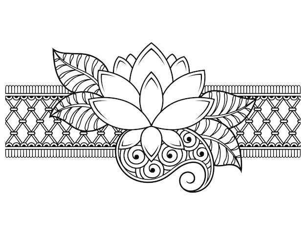 Lotus mehndi blume