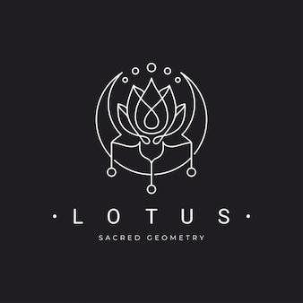 Lotus mit halbmond