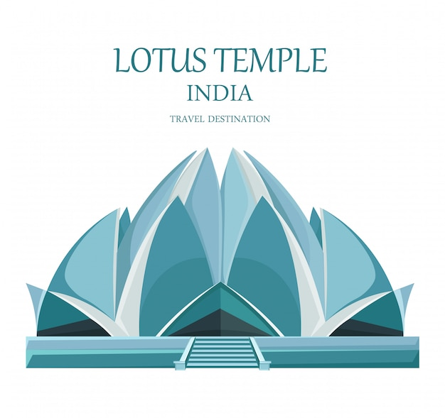 Lotus tempel indien