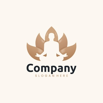 Lotus yoga-vorlage, inspiration für das logo-design logo