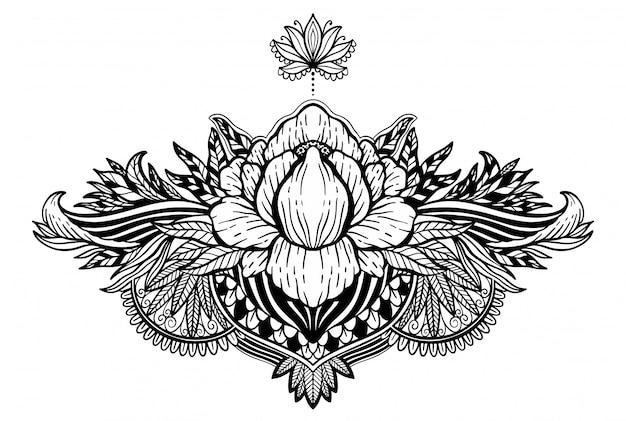 Lotusblume ethnisches symbol