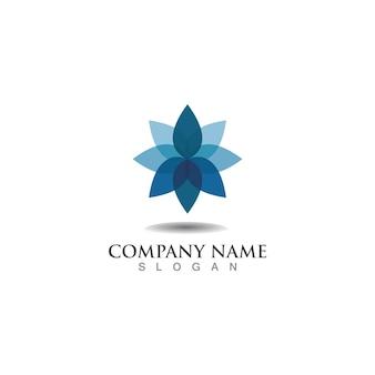 Lotusblumen design logo vorlage