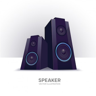 Loudspeakers isolierte vektorillustration