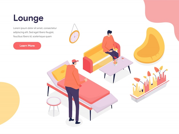Lounge space illustration konzept