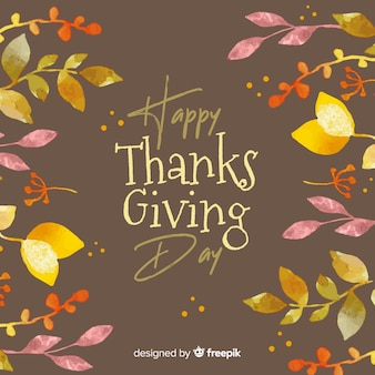 Lovely aquarell thanksgiving hintergrund