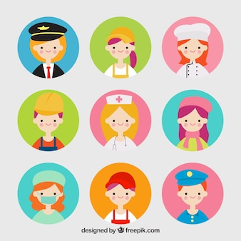 Lovely pack von jobs avatare