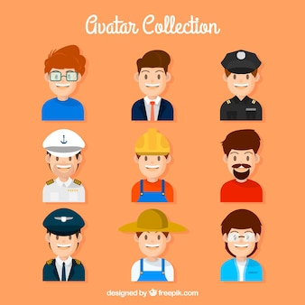Lovely pack von männlichen arbeiter avatare