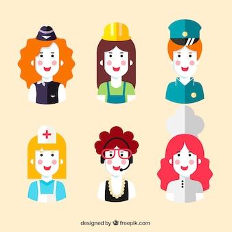 Lovely reihe von weiblichen avatare