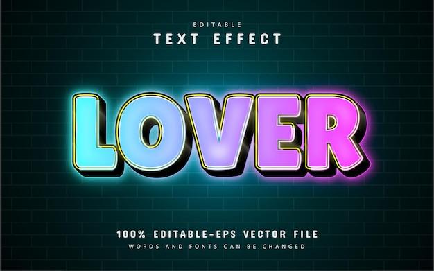 Lover-texteffekt mit farbverlauf