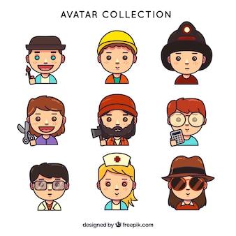 Lovlely pack von arbeiter avatare