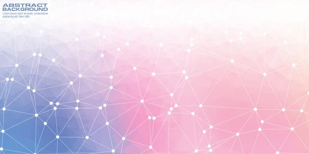 Low-poly-abstrakte technologie high-tech-hintergrund