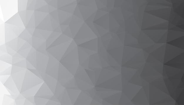 Low-poly-abstrakter grauer hintergrund