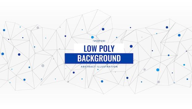 Low-poly abstrakter verbindungshintergrund poly