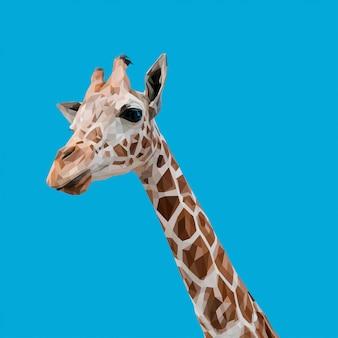 Low poly art giraffe