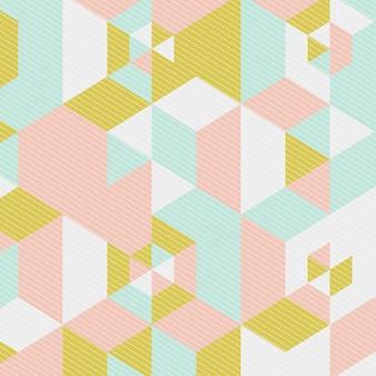 Low-poly-design im skandinavischen stil