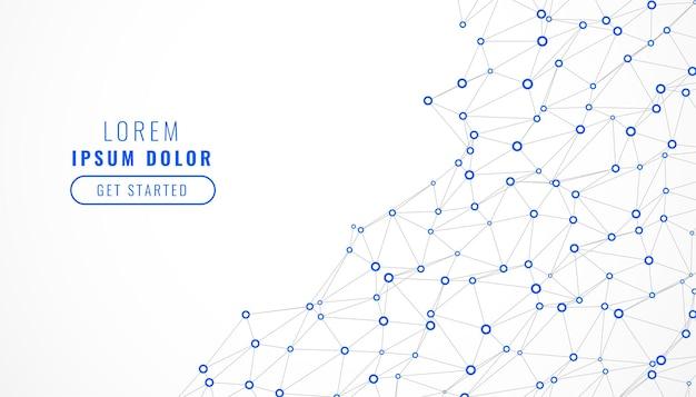Low poly digital network mesh lines hintergrund