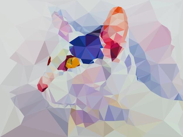 Low poly geometrische katze