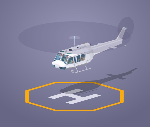 Low poly heli pad