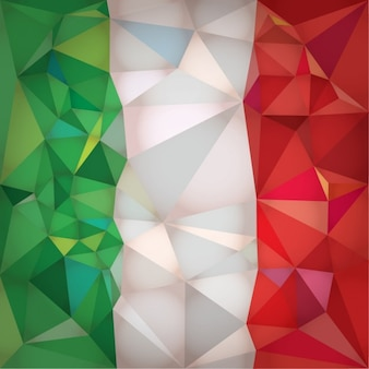 Low-poly-italien-flagge