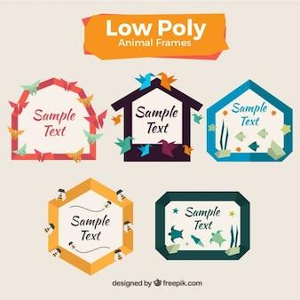 Low-poly-tier-rahmen