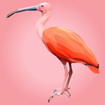 Lowpoly art von scarlet ibis