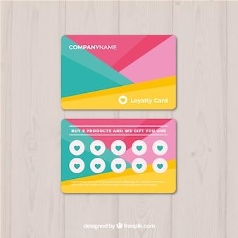 Loyalitätskartenschablone mit farben