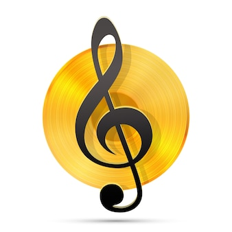Lp-record-symbol, grammophon-musikobjekt, vinyl-schallplatte, vektorillustration