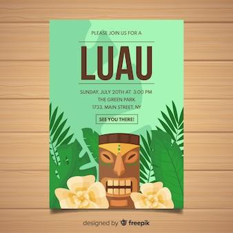 Luau party-flyer