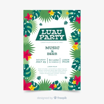 Luau party-flyer