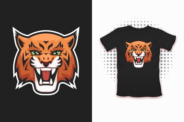 Luchsdruck für t-shirt