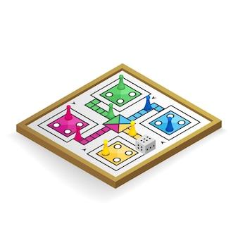 Ludo brettspiel aus verschiedenen perspektiven