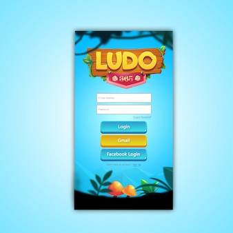 Ludo game login ui