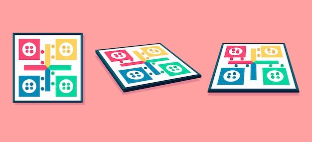 Ludo-spiel aus verschiedenen perspektiven