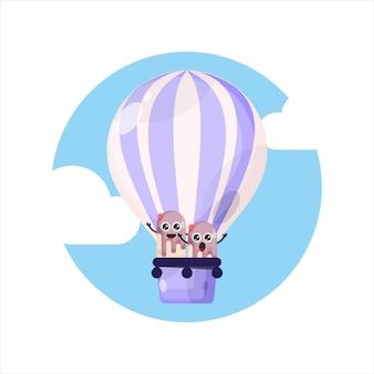 Luftballon eis maskottchen