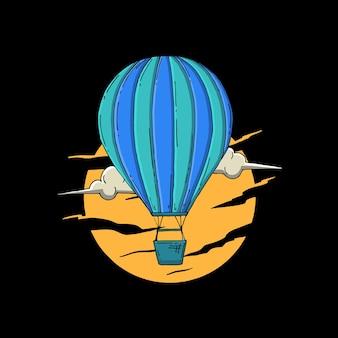 Luftballon mondnacht
