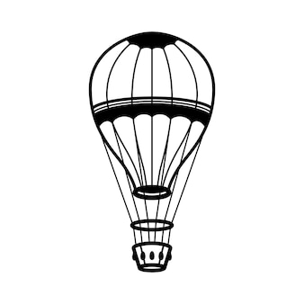 Luftballonillustration auf weißem hintergrund
