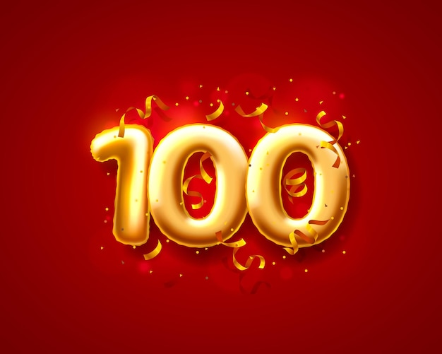 Luftballons für festliche zeremonien, luftballons mit der 100. nummer.